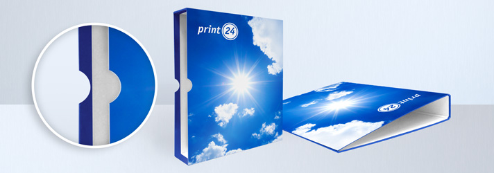 Personalised binder slipcase printing - Online at print24
