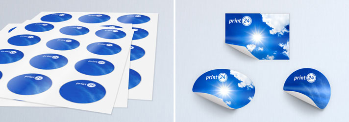 Sticker printing online cheap at print shop print24
