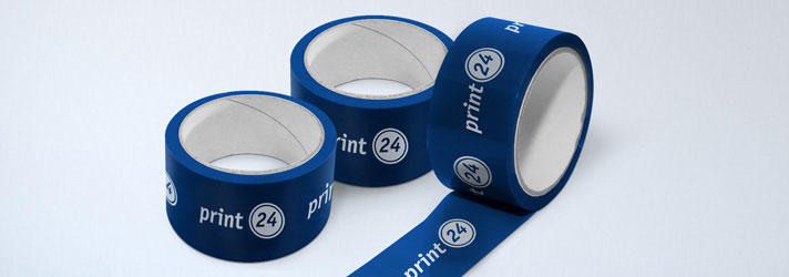 Impression de ruban adhésif d'emballage en PVC – imprimerie en ligne print24.com
