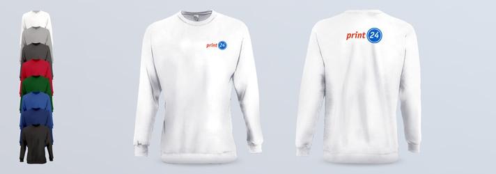 Sweatshirt bedrucken - Online-Druckerei print24