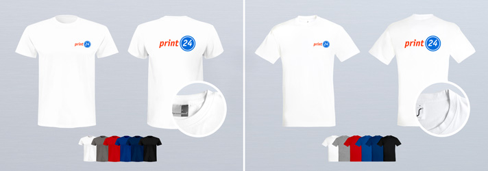 Quality personalised T-shirt printing - Online at print24