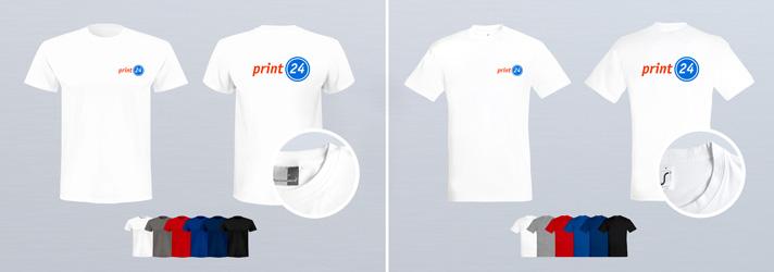 Farbige T-Shirts bedrucken lassen - Günstig Online-Druckerei print24