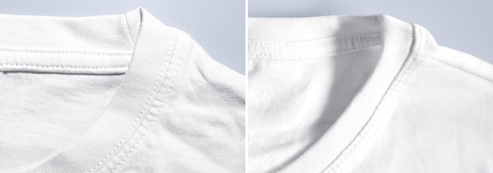 Detail-View of collar of Premium T-Shirts - online-printing print24