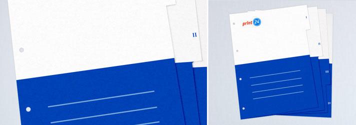 Impresión de separadores para carpetas personalizados - Imprenta Online en print24