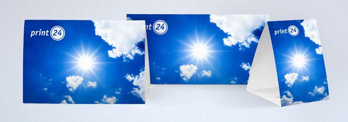 Tischaufsteller und Thekenaufsteller drucken lassen - Online-Druckerei print24