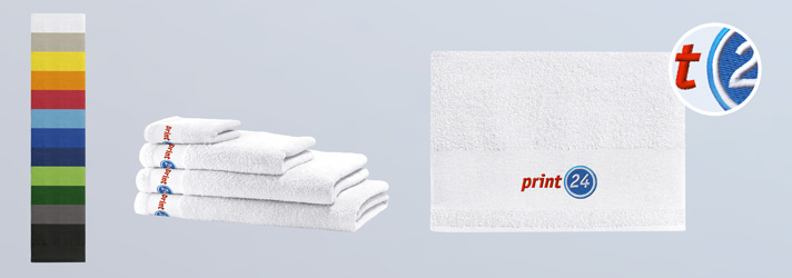Embroider personalised Towels - Online at print24