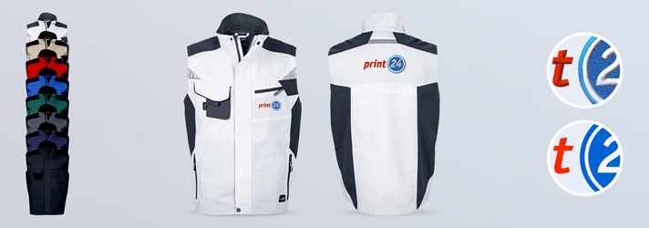 Body warmers embroidered or printed - Online at print24