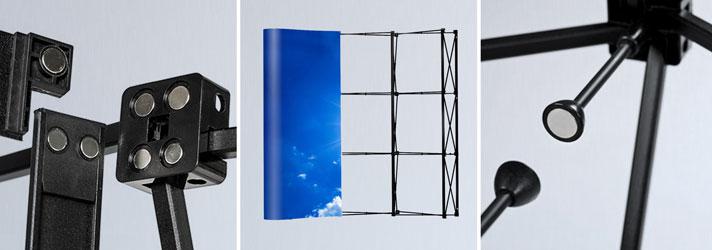 Gebogene PVC-Messewand bedrucken lassen - Online kaufen bei Druckerei print24