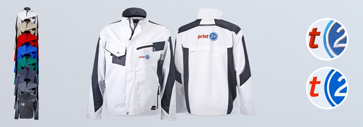 Work jackets embroidered or printed - Online at print24