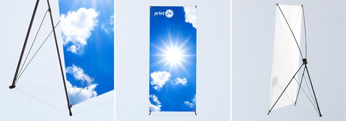 X-Banner drucken lassen für Ihre Werbung - Online-Druckerei print24